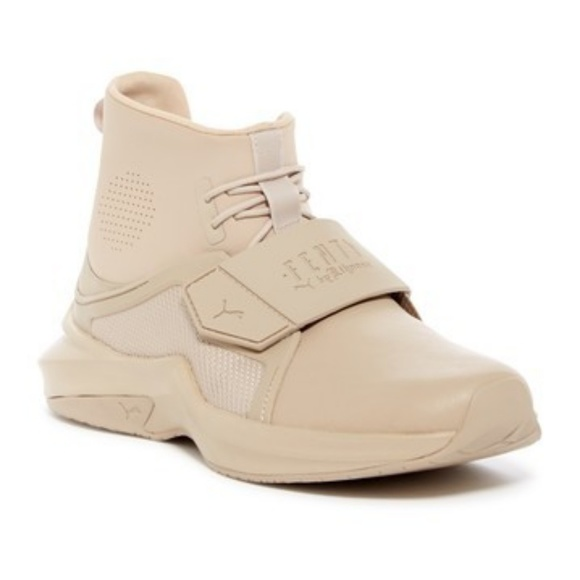 Fenty Puma Rihanna High Top Sneakers Cream Sz 8.5 e37f4251c